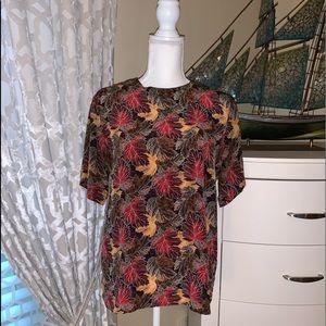 Stunt Vintage 100% silk short sleeves blouse